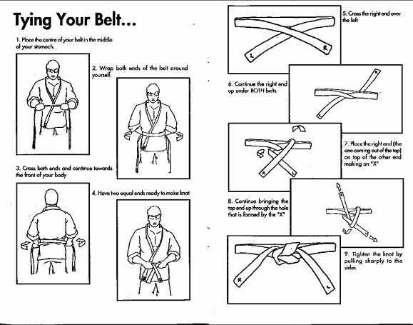 how to tie your obi  belt